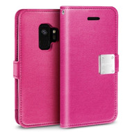 *SALE* Essential Leather Wallet Case for Samsung Galaxy S9 - Hot Pink