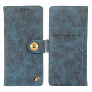 *SALE* Faux Suede Leather Wallet with Detachable Magnetic Case for Samsung Galaxy S9 Plus - Dark Blue