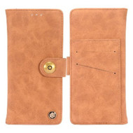 *SALE* Faux Suede Leather Wallet with Detachable Magnetic Case for Samsung Galaxy S9 Plus - Brown