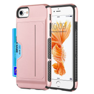 Exec Hybrid Case with Card Holder Compartment for iPhone 8 / 7 / 6S / 6 - Rose Gold