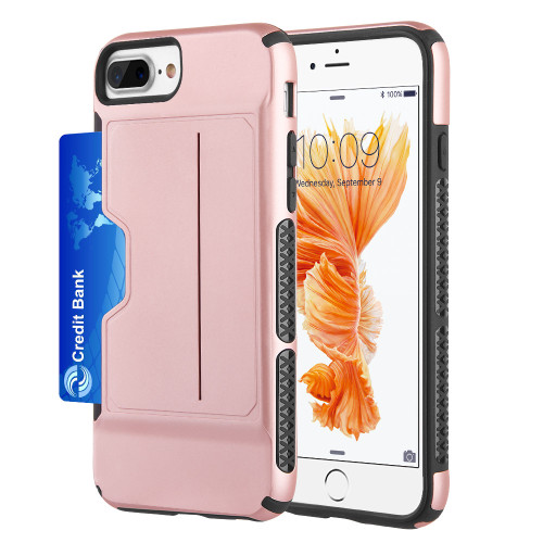 Exec Hybrid Case With Card Holder Compartment For Iphone 8