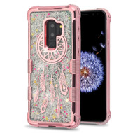 Tuff Lite Quicksand Glitter Electroplating Transparent Case for Samsung Galaxy S9 Plus - Dreamcatcher Rose Gold