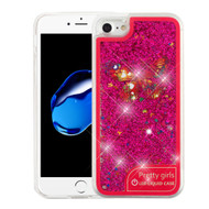 Confetti Quicksand Glitter Transparent Case with Flashing LED Light for iPhone 8 / 7 - Butterfly