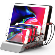 6 Ports Universal Desktop Charging Station USB Charger 51W / 10.2A - Silver