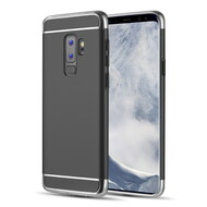 GripTech 3-Piece Chrome Frame Case for Samsung Galaxy S9 Plus - Black