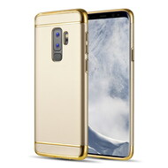 GripTech 3-Piece Chrome Frame Case for Samsung Galaxy S9 Plus - Gold