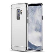 GripTech 3-Piece Chrome Frame Case for Samsung Galaxy S9 Plus - Silver