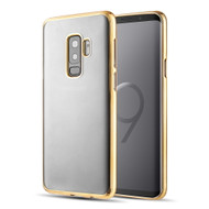 Skyfall Electroplating Clear Transparent TPU Soft Case for Samsung Galaxy S9 Plus - Gold