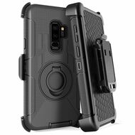 *SALE* Anti-Shock Heavy Duty Hybrid Case with Holster for Samsung Galaxy S9 Plus - Black