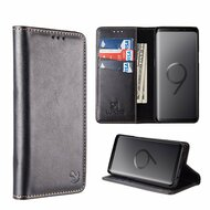 2-IN-1 Luxury Magnetic Leather Wallet Case for Samsung Galaxy S9 Plus - Black