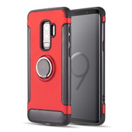 *Sale* Carbon Edge Sports Hybrid Armor Case with Ring Holder for Samsung Galaxy S9 Plus - Red