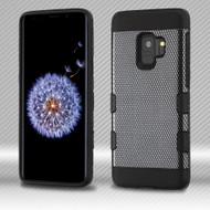 Military Grade Certified TUFF Trooper Dual Layer Hybrid Armor Case for Samsung Galaxy S9 - Carbon Fiber