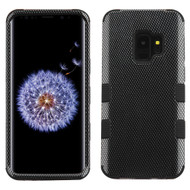 Military Grade Certified TUFF Hybrid Armor Case for Samsung Galaxy S9 - Carbon Fiber