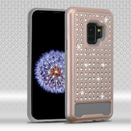 Luxury Bling Diamond Hybrid Case for Samsung Galaxy S9 - Rose Gold