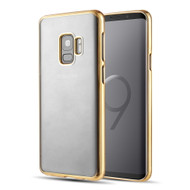 Skyfall Electroplating Clear Transparent TPU Soft Case for Samsung Galaxy S9 - Gold