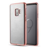 Skyfall Electroplating Clear Transparent TPU Soft Case for Samsung Galaxy S9 - Rose Gold