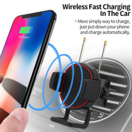 Air Vent Mount Fast Wireless Charging Qi Charger - Black