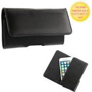 *SALE* Universal Magnetic Leather Folio Hip Phone Case - Black