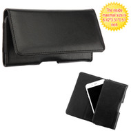 *SALE* Universal Magnetic Flip Leather Folio Hip Smartphone Case - Black