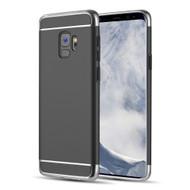 GripTech 3-Piece Chrome Frame Case for Samsung Galaxy S9 - Black