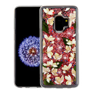 Quicksand Glitter Transparent Case for Samsung Galaxy S9 - Sally Flower