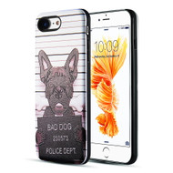 Art Pop Series 3D Embossed Printing Hybrid Case for iPhone 8 / 7 - Bad Dog