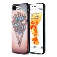 *Sale* Art Pop Series 3D Embossed Printing Hybrid Case for iPhone 8 / 7 - Butterfly Hot Air Balloon