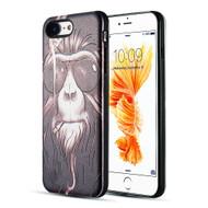 Art Pop Series 3D Embossed Printing Hybrid Case for iPhone 8 / 7 - Smoking Monkey