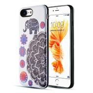 Art Pop Series 3D Embossed Printing Hybrid Case for iPhone 8 / 7 - Elephant Mandala