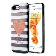 Art Pop Series 3D Embossed Printing Hybrid Case for iPhone 8 / 7 - Heart
