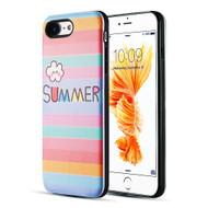 Art Pop Series 3D Embossed Printing Hybrid Case for iPhone 8 / 7 - Summer