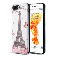 *Sale* Art Pop Series 3D Embossed Printing Hybrid Case for iPhone 8 Plus / 7 Plus - Eiffel Tower