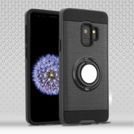 Sports Hybrid Armor Case with Smart Loop Ring Holder for Samsung Galaxy S9 - Black