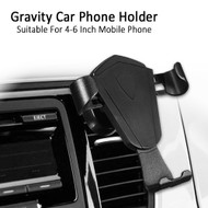 Gravity Sensing Auto Lock Car Air Vent Cradle Mount Holder - Black