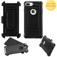 Advanced Hybrid Armor Case and Holster for iPhone 8 Plus / 7 Plus - Black