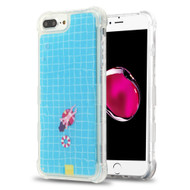 Tuff Aqua Lava Transparent Case for iPhone 8 Plus / 7 Plus / 6S Plus / 6 Plus - Swimming Pool
