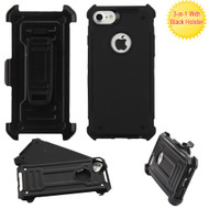 Advanced Hybrid Armor Case and Holster for iPhone 8 / 7 - Black
