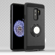 Sports Hybrid Armor Case with Smart Loop Ring Holder for Samsung Galaxy S9 Plus- Black