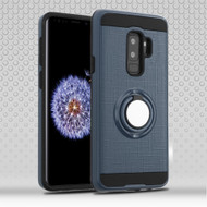 Sports Hybrid Armor Case with Smart Loop Ring Holder for Samsung Galaxy S9 Plus- Ink Blue