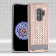 Luxury Bling Diamond Hybrid Case for Samsung Galaxy S9 Plus- Rose Gold
