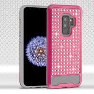 Luxury Bling Diamond Hybrid Case for Samsung Galaxy S9 Plus- Hot Pink