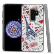 Tough Anti-Shock Triple Layer Hybrid Case for Samsung Galaxy S9 Plus - Eiffel Tower