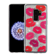 Quicksand Glitter Transparent Case for Samsung Galaxy S9 Plus - Kisses