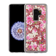 Quicksand Glitter Transparent Case for Samsung Galaxy S9 Plus - European Rose