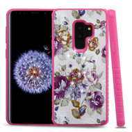 Tough Anti-Shock Hybrid Case for Samsung Galaxy S9 Plus- Violet Flowers