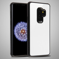 Minimalistic TPU Case with Tempered Glass Backing for Samsung Galaxy S9 Plus - White