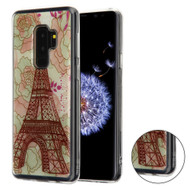 Shockproof Crystal TPU Case for Samsung Galaxy S9 Plus - Eiffel Tower