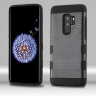 Military Grade Certified TUFF Trooper Dual Layer Hybrid Armor Case for Samsung Galaxy S9 Plus - Carbon