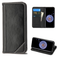 *Sale* Mybat Genuine Leather Wallet Case for Samsung Galaxy S9 Plus - Black