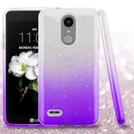 Full Glitter Hybrid Protective Case for LG Aristo 3 / Aristo 2 Plus / Fortune 2 / Tribute Empire - Purple
